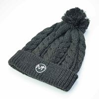 Imagine Cable Knit Bobble Hat - Charcoal