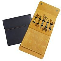 Immagine di Matakki Leather Scissor Case Holds 10 pcs